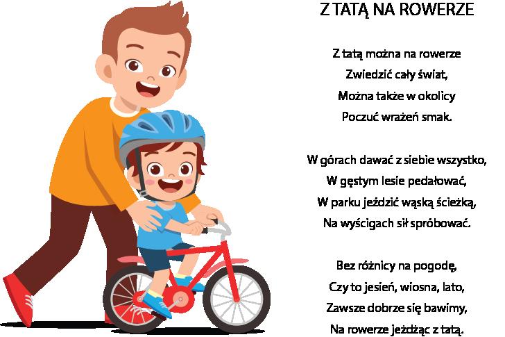 Z tatą na rowerze